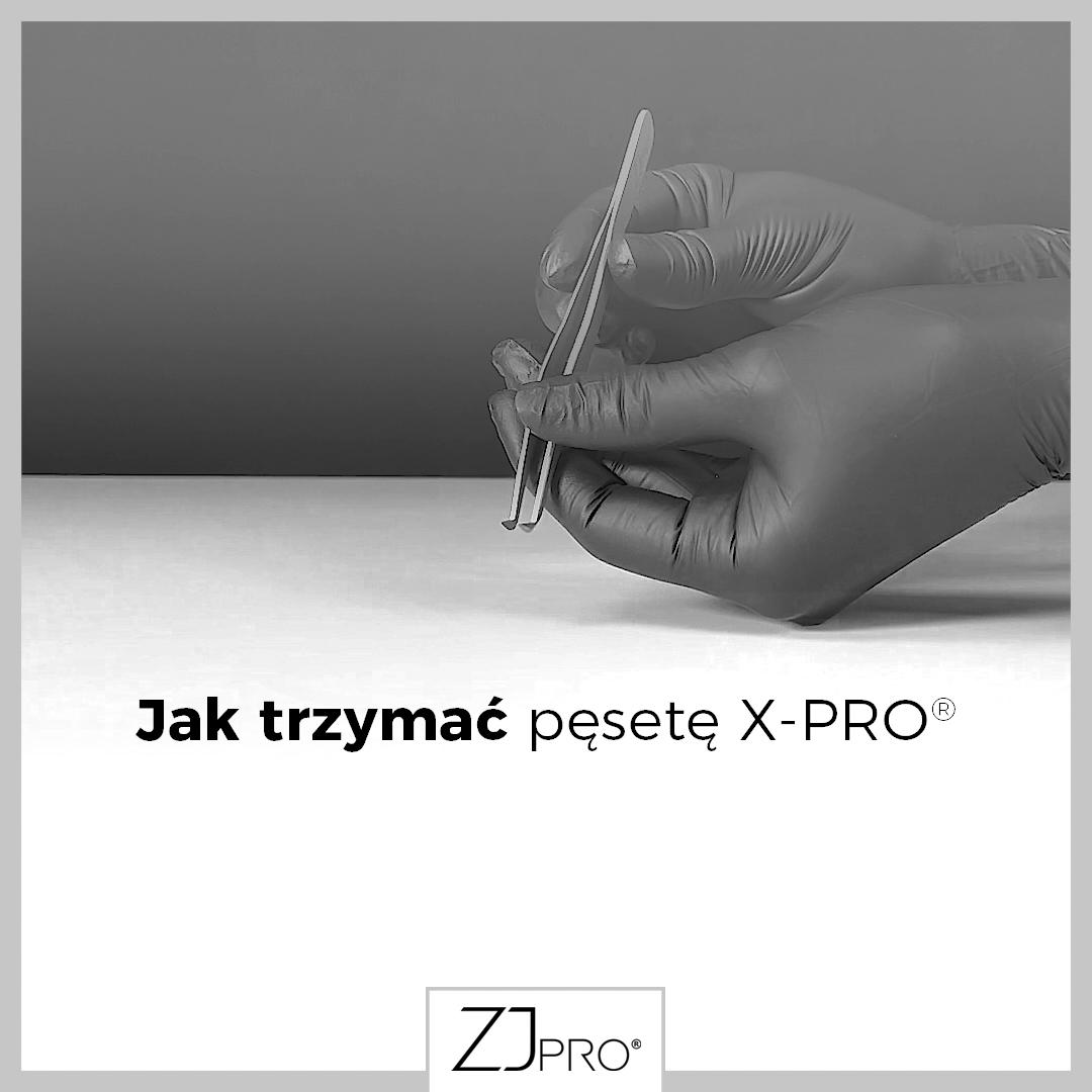 Jak prawidłowo trzymać pęsetę do rzęs X-PRO™?